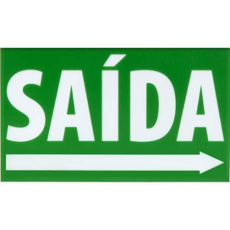 Placa Sinalização Ps Br-vd Saida Engesul Seta Direita