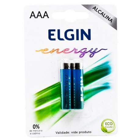 Pilha Alcalina Aaa C/2 Pçs Lr03 Elgin 82154
