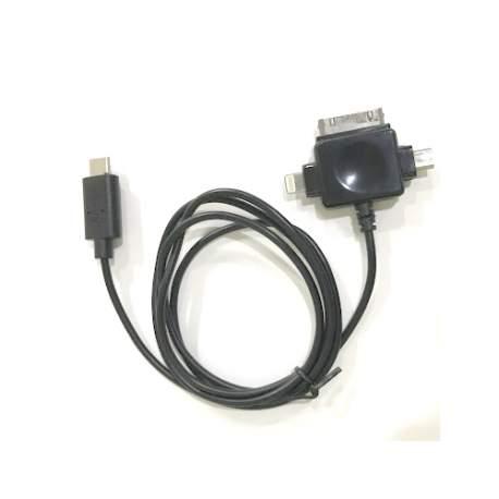 Cabo Usb Tipo C + Universal P/celular Micro B/ Chip Sce 018-7489 Iphone 4/5/6 - 1 Mt