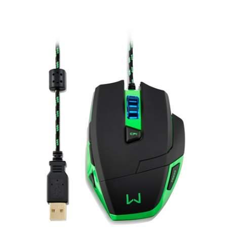 Mouse Usb Gamer Warrior Macro 3200dpi Multilaser Mo245