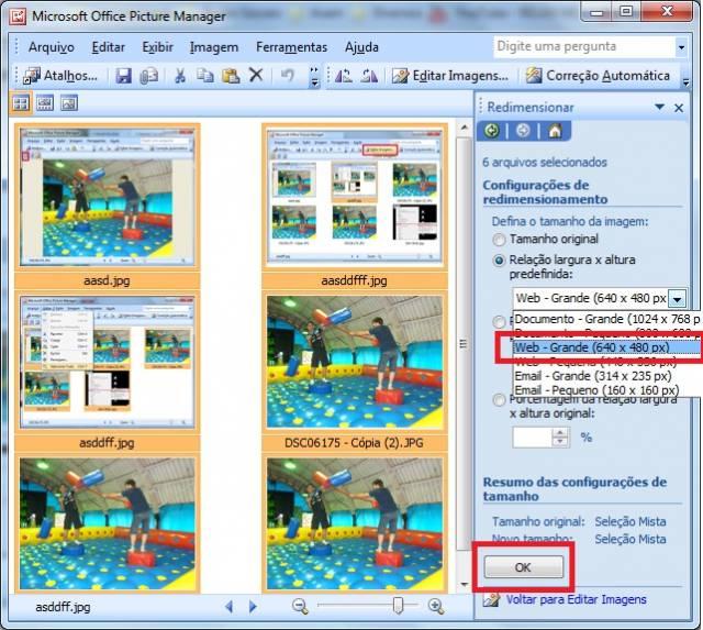 Compactar imagens e fotos