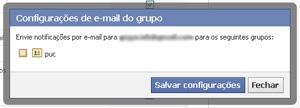 Parar de receber emails grupos Facebook