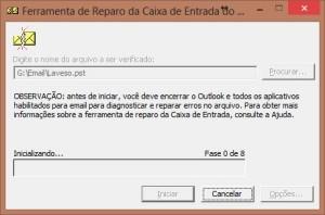 Corrigir erro na abertura do Outlook -  Arquivo de dados