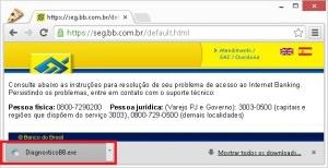 Instalador diagnóstico Banco do Brasil