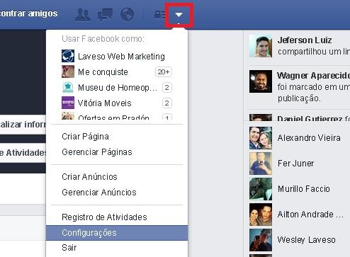 Colocar o E no nome do perfil no Facebook