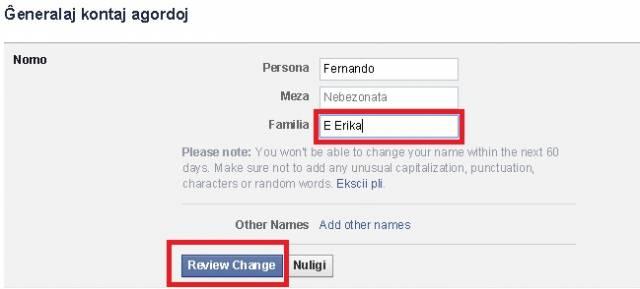 Alterar nome conjugal no Facebook