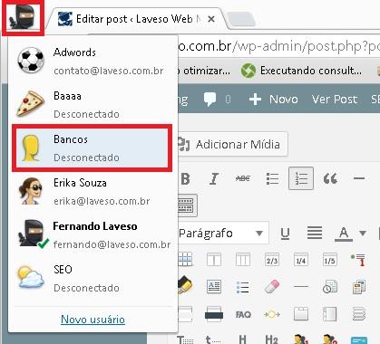 Perfil Google Chrome