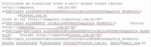 Extrator de e-mails do Outlook e de textos
