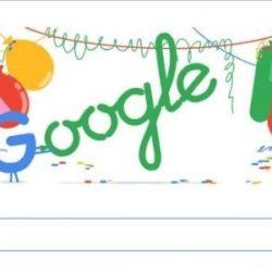 Aniversário da Google - 18 anos